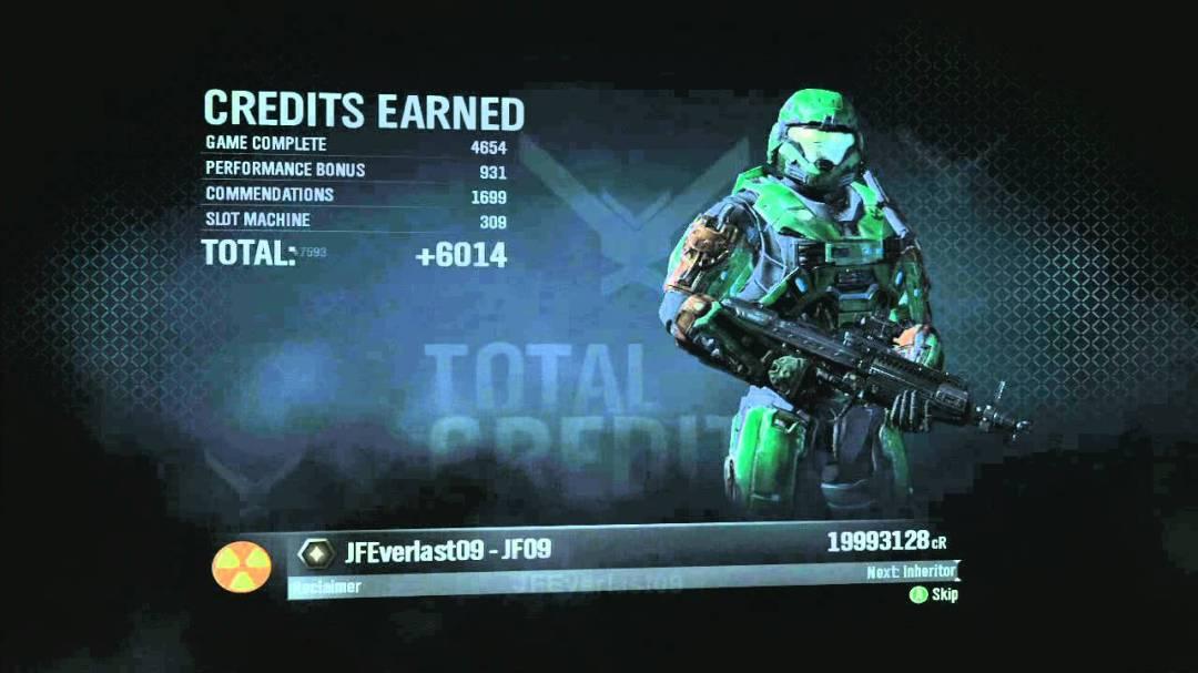 """Sur Halo: Reach, toute la progression multijoueur tourne autour des """"Crédits"""""""