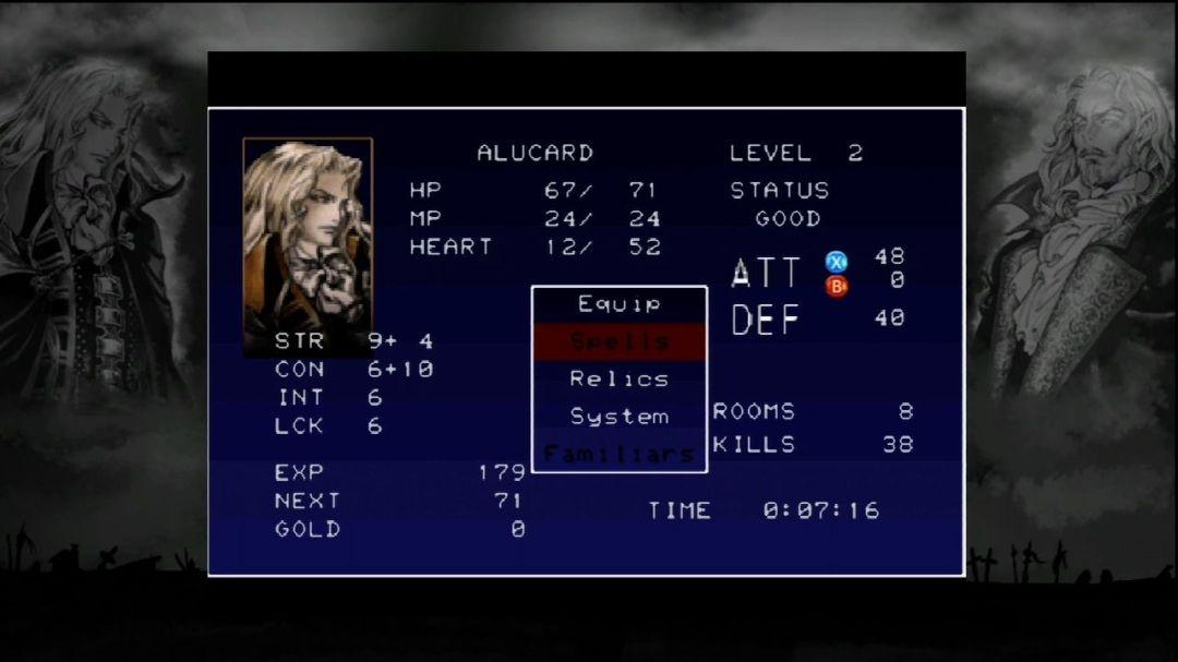 Dans Castlevania SOTN, Alucard devient de plus en plus puissant au cours de l'aventure, cela est dû à l'expérience