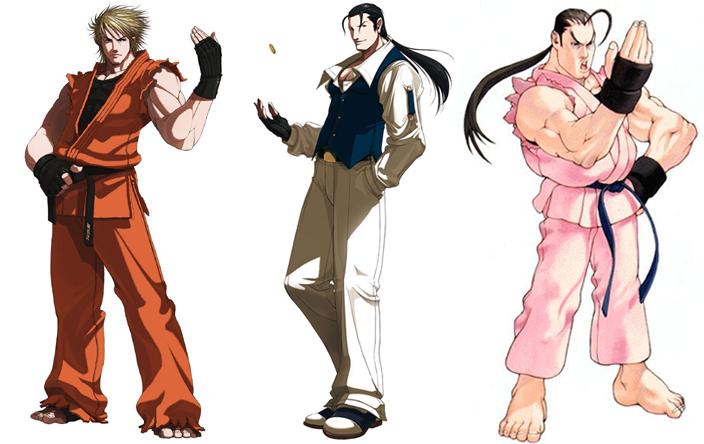 """Dan est un """"mix"""" entre Ryo et Robert de Art of Fighting, une façon pour Capcom de se moquer de Ryo (beaucoup trop) inspiré de Ryu et Ken"""