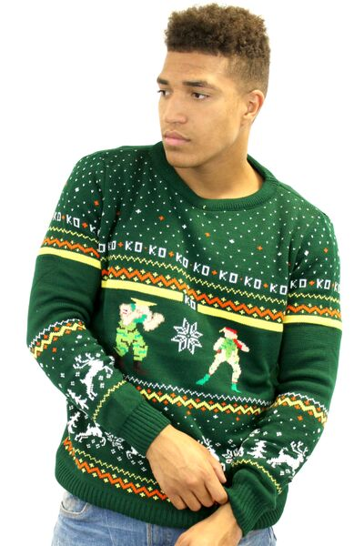 Street-Fighter-Guile-Cammy-Mens-Christmas-Sweater