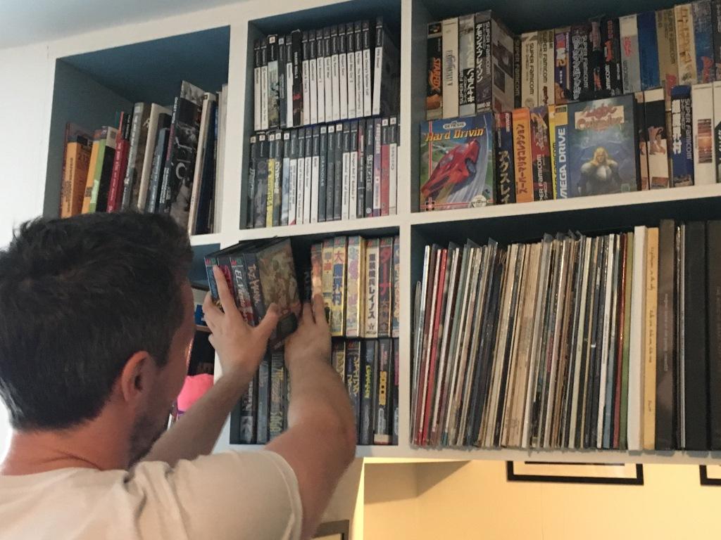 Christophe et Katya partagent une impressionnante collection de jeux